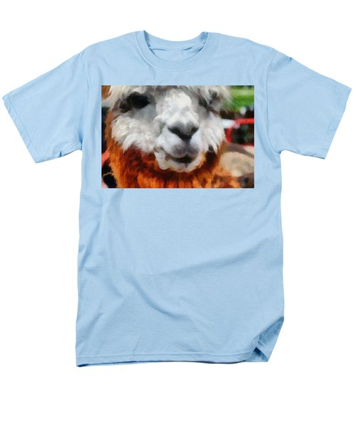 Alpaca Men's T-Shirt  (Regular Fit) by Michelle Calkins