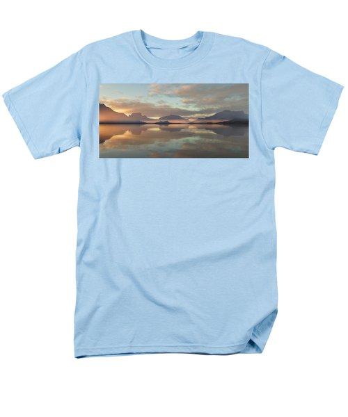 Men's T-Shirt  (Regular Fit) featuring the digital art Salmon Lake Sunrise by Mark Greenberg