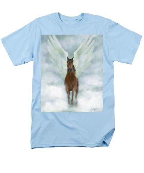 Angel Horse Running Free Across The Heavens Men's T-Shirt  (Regular Fit)