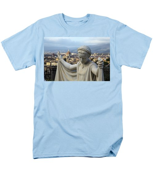 Men's T-Shirt  (Regular Fit) featuring the photograph Angel Of Firenze by Sonny Marcyan