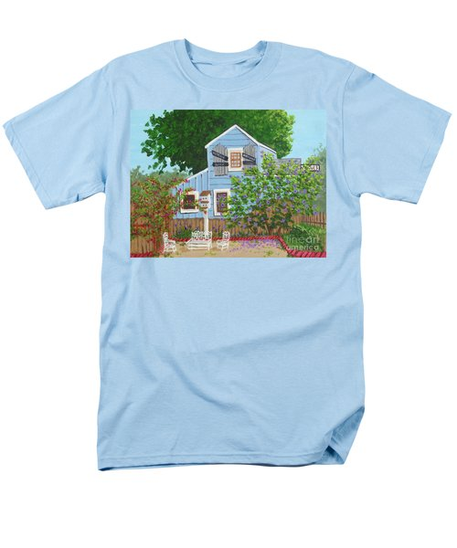 Men's T-Shirt  (Regular Fit) featuring the painting Antique Shop, Cambria Ca by Katherine Young-Beck
