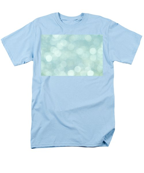 Men's T-Shirt  (Regular Fit) featuring the photograph Aqua Abstract by Peggy Collins