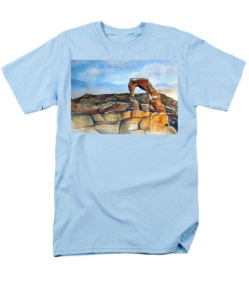 Arches National Park Men's T-Shirt  (Regular Fit) by Debbie Lewis