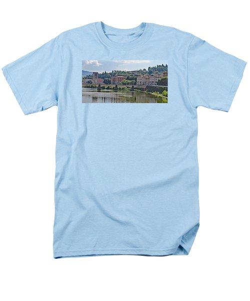 Arno River And Bridge Men's T-Shirt  (Regular Fit) by Allan Levin