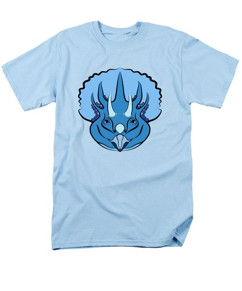 Triceratops Graphic Blue Men's T-Shirt  (Regular Fit) by MM Anderson