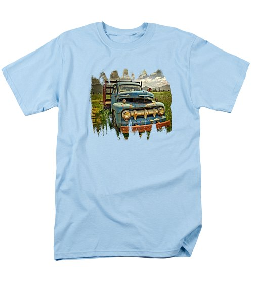 The Blue Classic 48 To 52 Ford Truck Men's T-Shirt  (Regular Fit) by Thom Zehrfeld
