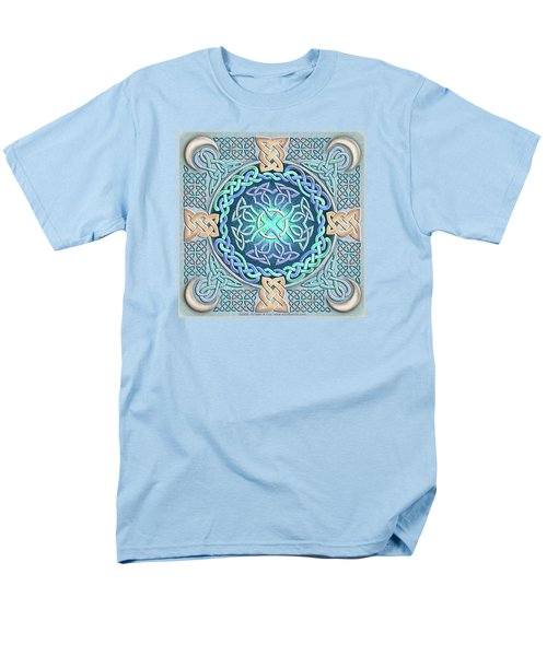 Men's T-Shirt  (Regular Fit) featuring the mixed media Celtic Eye Of The World by Kristen Fox