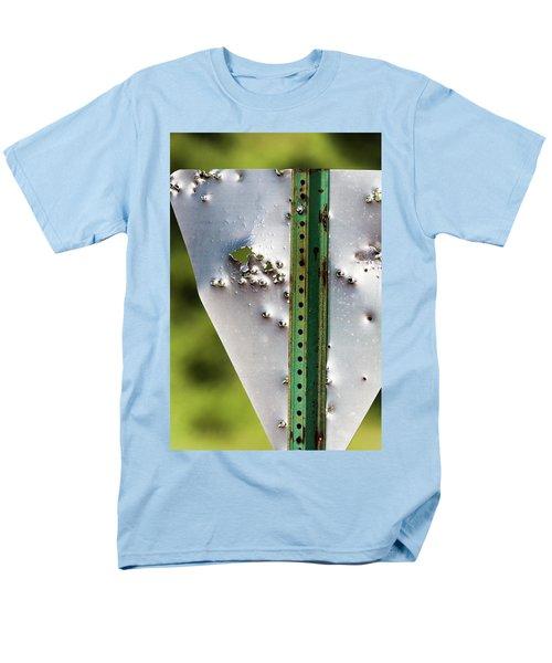 Bullet Hole Yield Men's T-Shirt  (Regular Fit) by Bill Kesler