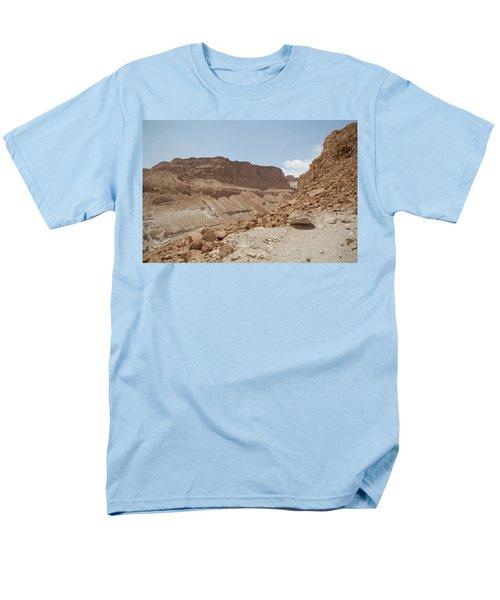 Men's T-Shirt  (Regular Fit) featuring the photograph Ascension To Masada - Judean Desert, Israel by Yoel Koskas