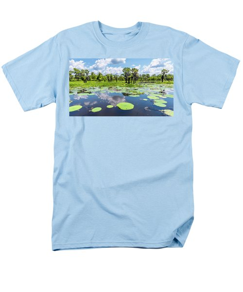 Atchaflaya Basin Reflection Pool Men's T-Shirt  (Regular Fit) by Andy Crawford