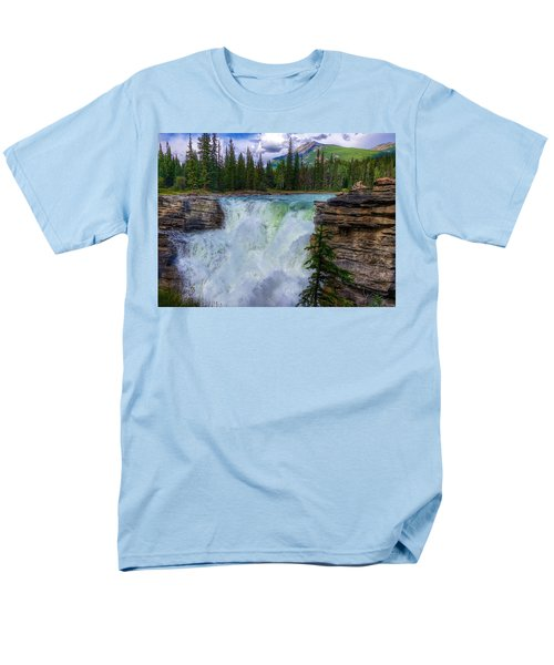 Athabasca Falls, Ab  Men's T-Shirt  (Regular Fit) by Heather Vopni