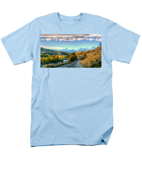 Atherton View Of Tetons Men's T-Shirt  (Regular Fit) by Charlotte Schafer