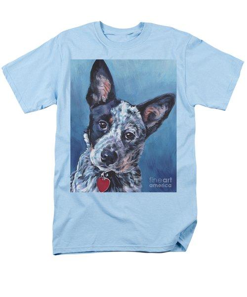 Men's T-Shirt  (Regular Fit) featuring the painting Australian Cattle Dog by Lee Ann Shepard