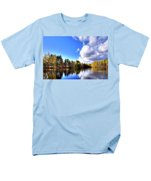 Men's T-Shirt  (Regular Fit) featuring the photograph Autumn Calm At Woodcraft Camp by David Patterson