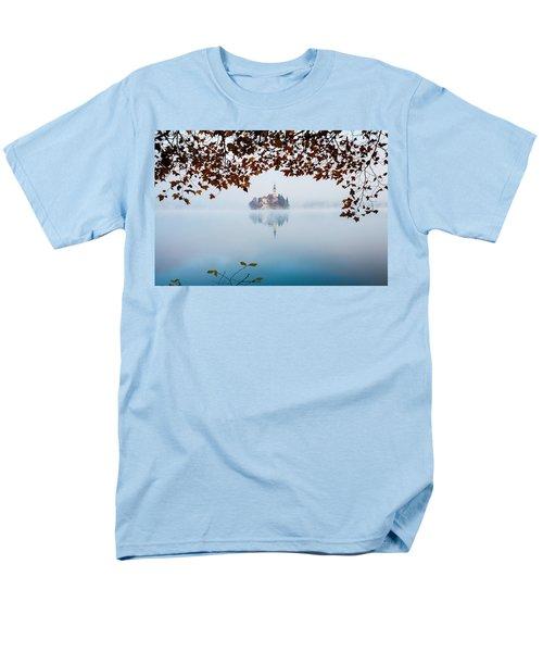 Autumn Mist Over Lake Bled Men's T-Shirt  (Regular Fit) by Ian Middleton