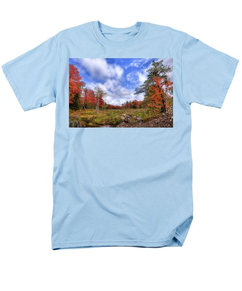 Men's T-Shirt  (Regular Fit) featuring the photograph Autumn On The Stream by David Patterson