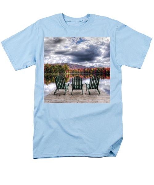 Men's T-Shirt  (Regular Fit) featuring the photograph Autumn On West Lake by David Patterson