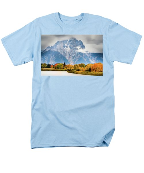 Autumn Storm Over Mount Moran Men's T-Shirt  (Regular Fit)