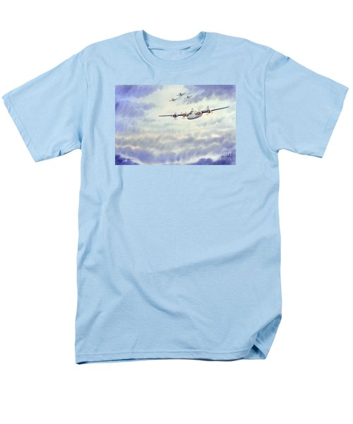Men's T-Shirt  (Regular Fit) featuring the painting B-24 Liberator Aircraft Painting by Bill Holkham