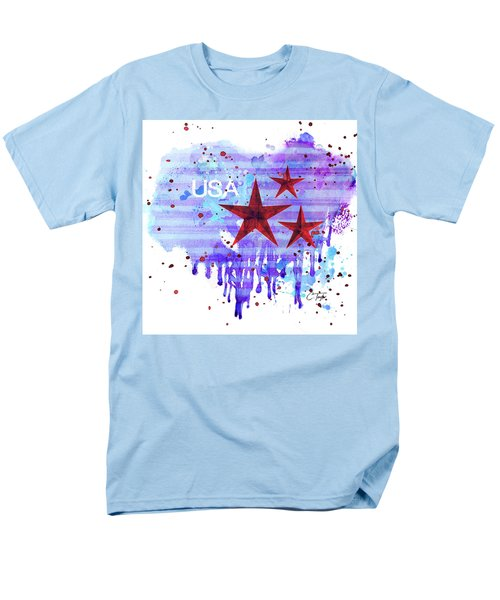 Men's T-Shirt  (Regular Fit) featuring the painting Back In The Usa by Colleen Taylor