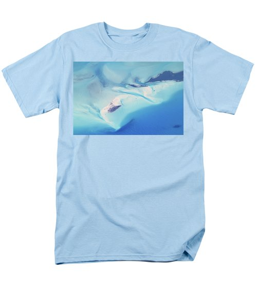 Men's T-Shirt  (Regular Fit) featuring the photograph Bahama Banks Aerial Seascape by Roupen  Baker