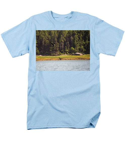 Men's T-Shirt  (Regular Fit) featuring the photograph Bald Eagle In Flight by Trace Kittrell