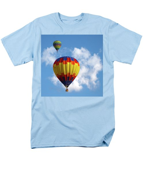 Men's T-Shirt  (Regular Fit) featuring the photograph Balloons In The Cloud by Marie Leslie