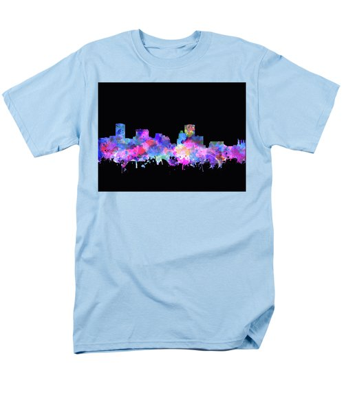Men's T-Shirt  (Regular Fit) featuring the painting Baltimore Skyline Watercolor 5 by Bekim Art