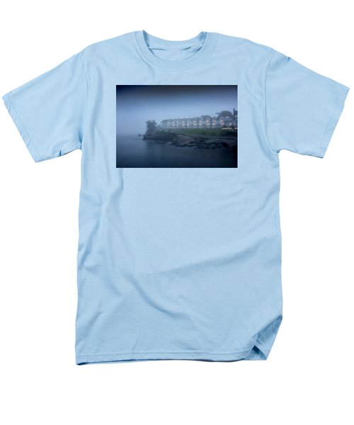 Bar Harbor Inn - Stormy Night Men's T-Shirt  (Regular Fit) by Brendan Reals