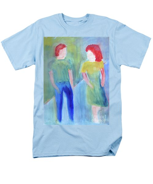 Men's T-Shirt  (Regular Fit) featuring the painting Barney And Elizabeth by Sandy McIntire