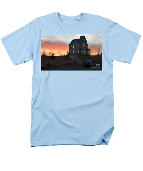 Bates Motel At Night Men's T-Shirt  (Regular Fit) by Jim  Hatch