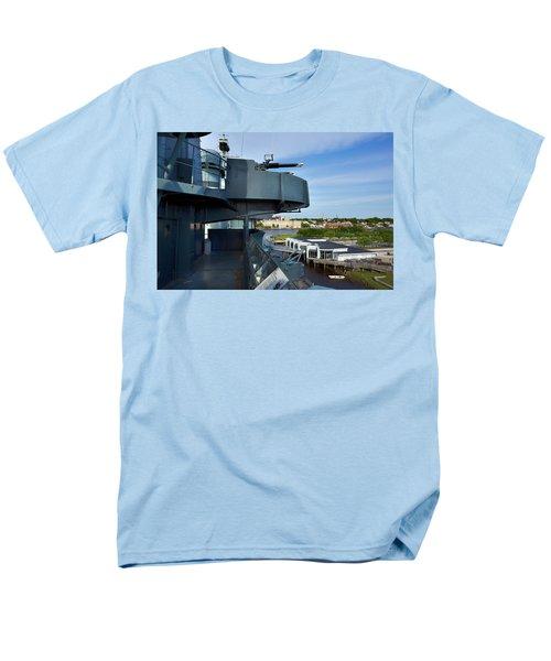 Battleship View Of Wilmington Nc Men's T-Shirt  (Regular Fit)
