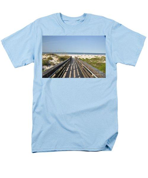 Men's T-Shirt  (Regular Fit) featuring the photograph Beach Boardwalk by John Black