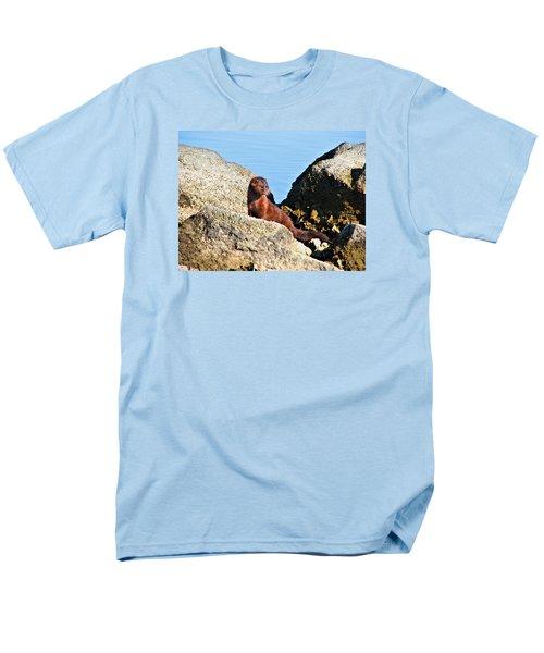 Beachcomber Men's T-Shirt  (Regular Fit) by Laura Ragland