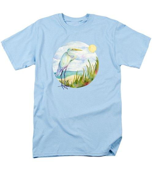 Beach Heron Men's T-Shirt  (Regular Fit) by Amy Kirkpatrick