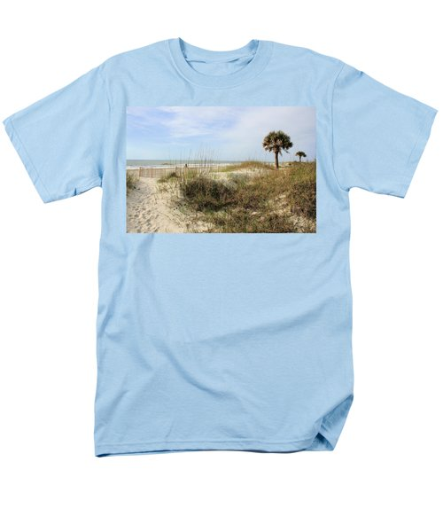 Beach Path Men's T-Shirt  (Regular Fit) by Angela Rath