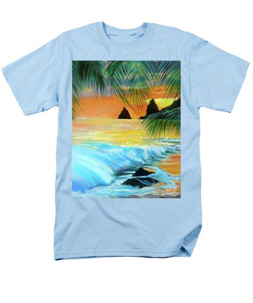 Beach Sunset Men's T-Shirt  (Regular Fit) by Jenny Lee