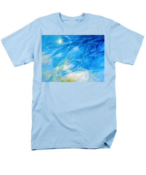 Men's T-Shirt  (Regular Fit) featuring the painting Becoming Crystal Clear by Dina Dargo