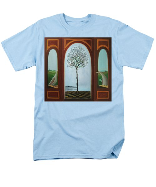 Men's T-Shirt  (Regular Fit) featuring the painting Belgian Triptyck by Tone Aanderaa
