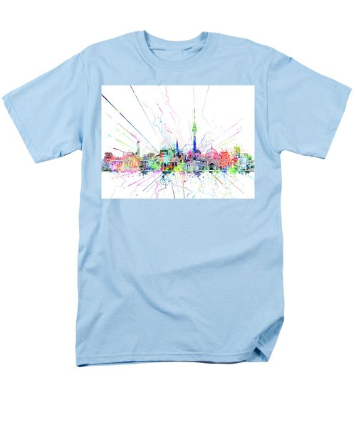 Berlin City Skyline Watercolor 2 Men's T-Shirt  (Regular Fit) by Bekim Art