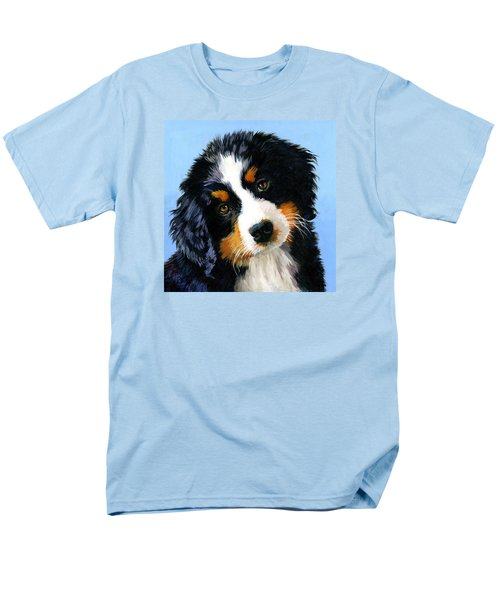 Bernese Mountain Puppy Men's T-Shirt  (Regular Fit) by Alice Leggett