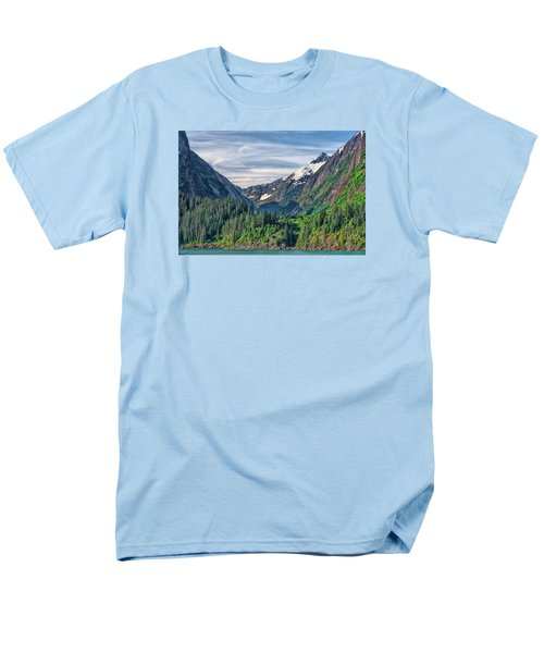 Men's T-Shirt  (Regular Fit) featuring the photograph Between The Peaks by Lewis Mann