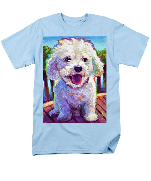 Men's T-Shirt  (Regular Fit) featuring the painting Bichon Frise by Robert Phelps