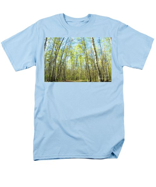 Birch Forest Spring Men's T-Shirt  (Regular Fit) by Irina Afonskaya