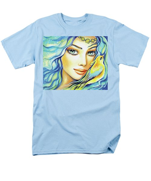 Men's T-Shirt  (Regular Fit) featuring the painting Bird Of Secrets by Eva Campbell