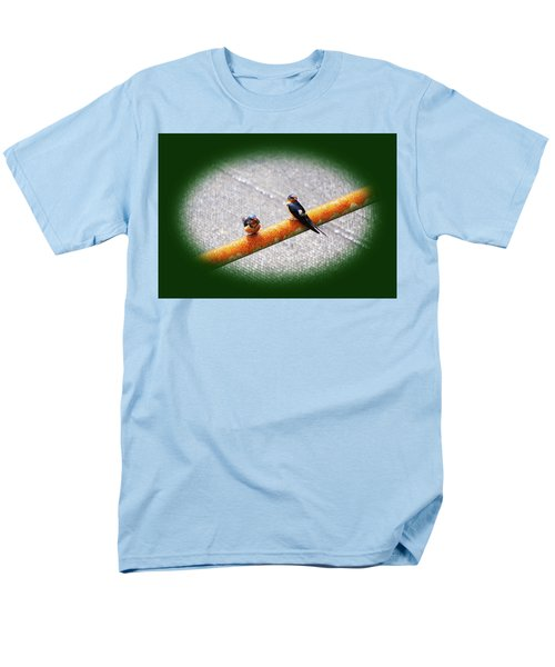 Birds On A Pipe Men's T-Shirt  (Regular Fit) by Angi Parks