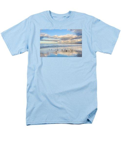 Birds On The Beach Men's T-Shirt  (Regular Fit) by Derek Dean