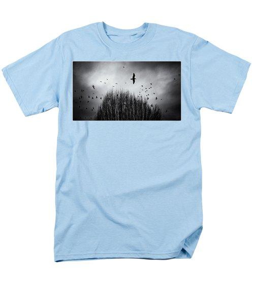 Birds Over Bush Men's T-Shirt  (Regular Fit) by Peter v Quenter