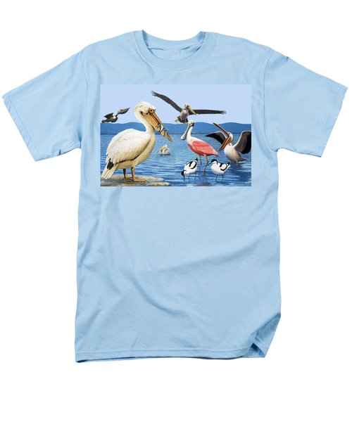 Birds With Strange Beaks Men's T-Shirt  (Regular Fit) by R B Davis