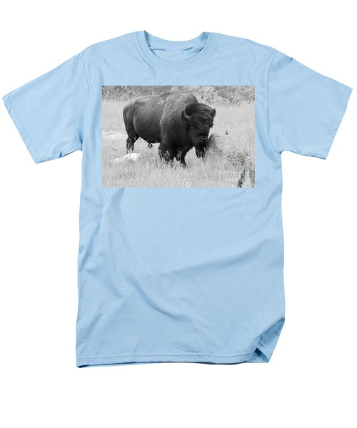 Bison And Buffalo Men's T-Shirt  (Regular Fit) by Mary Mikawoz